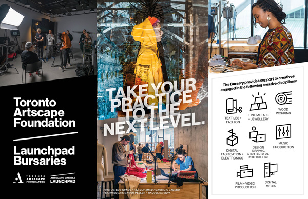 Call For Applications Toronto Artscape Foundation Launchpad Bursaries 2020 Akimbo