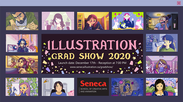 Zoom-style Illustration Grad Show Poster for Fall 2020